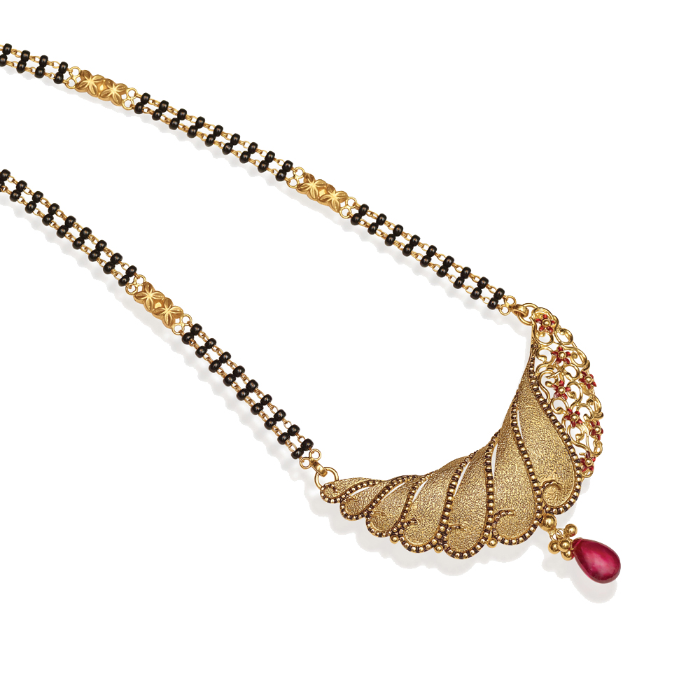 Latest gold mangalsutra designs, Wedding gold mangalsutra