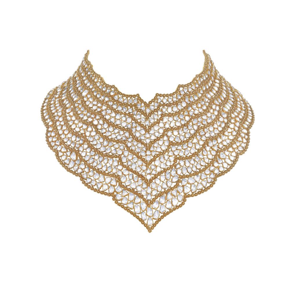Polki jewellery designs, Polki bridal jewellery, Polki jewellery