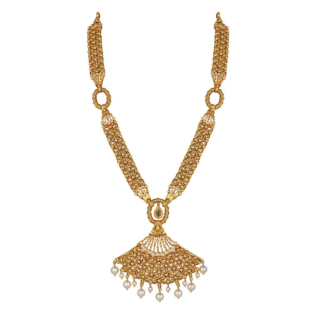 Buy Gold Rani Haar - Maharani Haar Designs Online | Azva