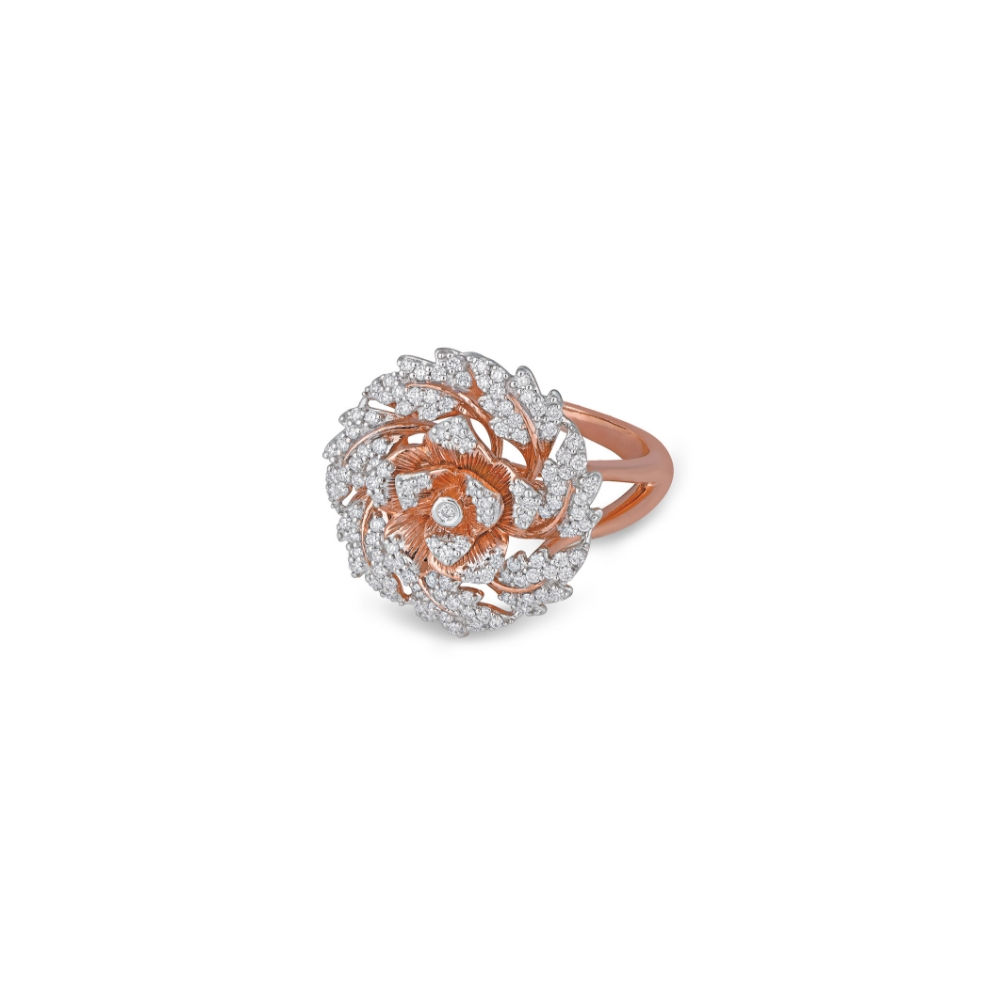 The Rose ring with diamonds | Azva