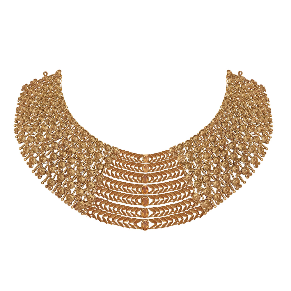 22 Kt Modern Gold Necklace - Necklace | Azva