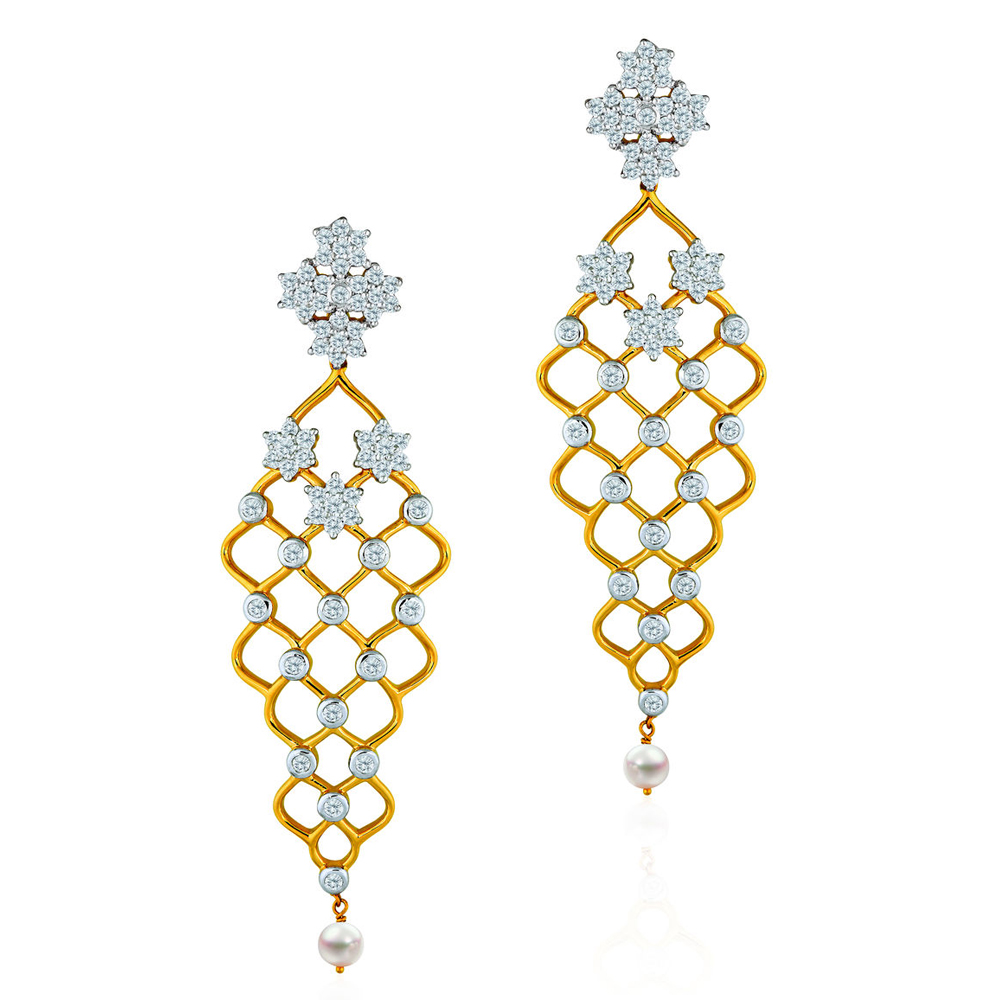 Diamond Lattice Earrings - Earrings | Azva