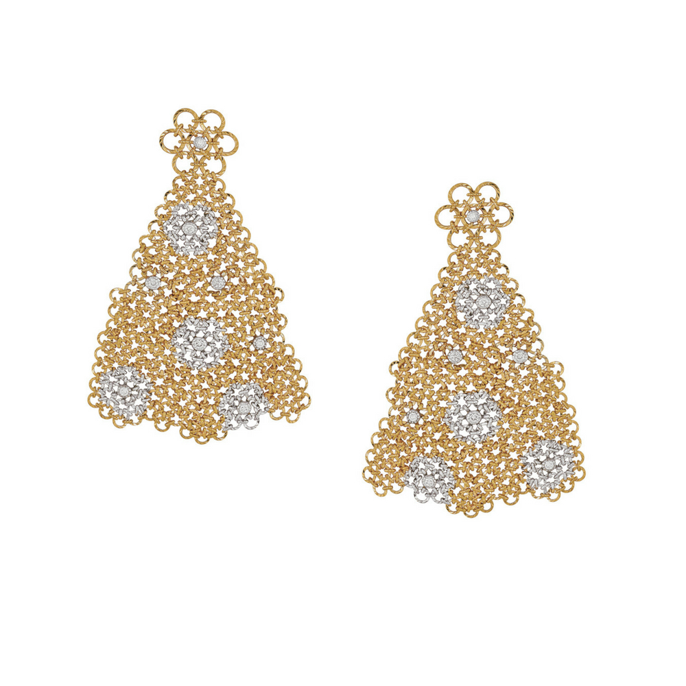 Entwined Dangler Earrings with Diamond Clusters - Entwined | Azva