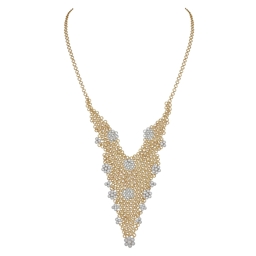 Entwined Necklace Studded with Diamonds - Entwined | Azva