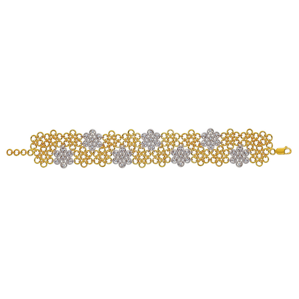 Entwined Draped Floral Bracelet with Diamonds - Entwined | Azva