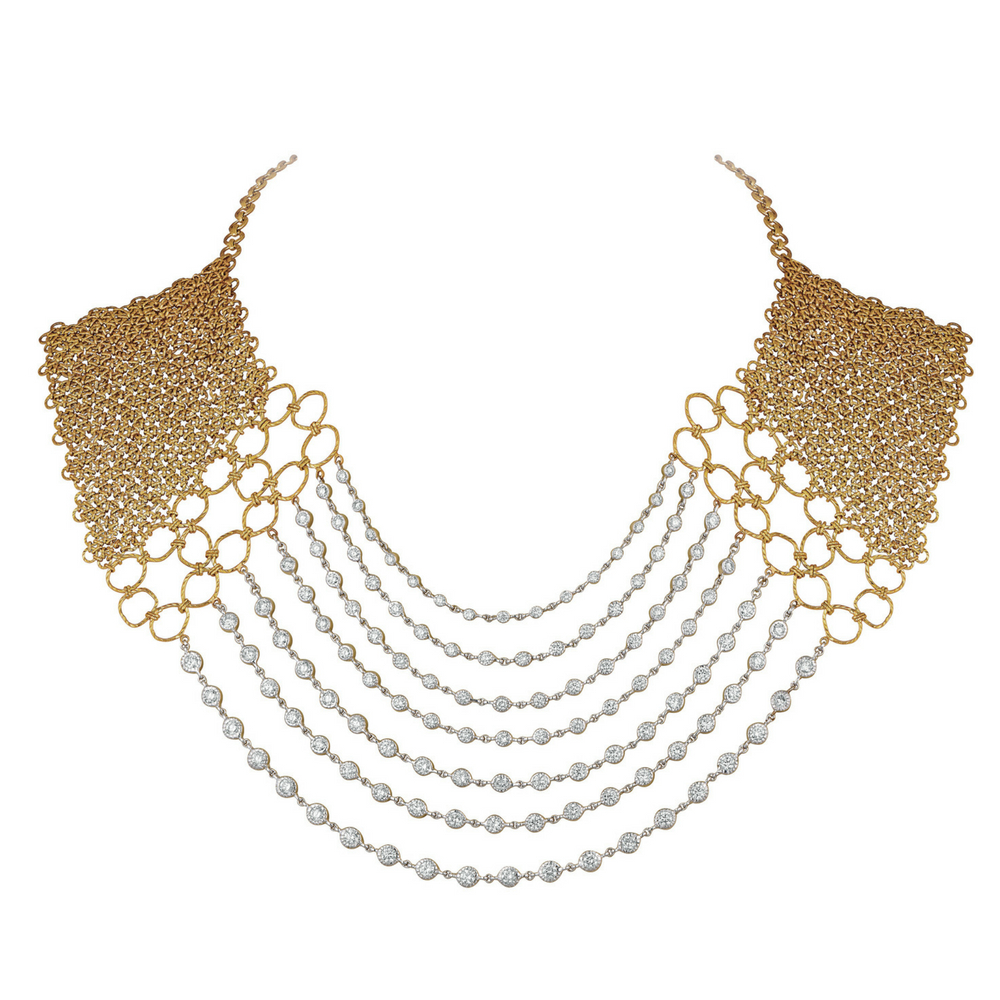 Entwined Layered Necklace with Diamonds - Entwined | Azva